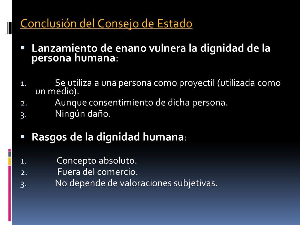 Conclusión del Consejo de Estado