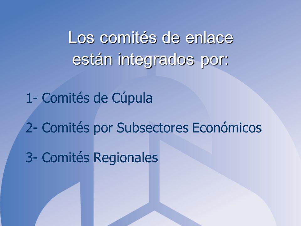Los comités de enlace están integrados por: