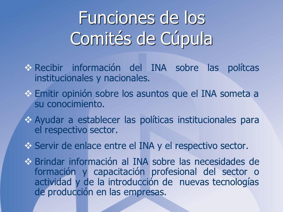 Funciones de los Comités de Cúpula