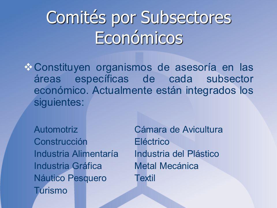 Comités por Subsectores Económicos