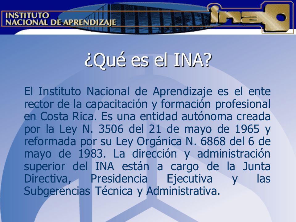 ¿Qué es el INA
