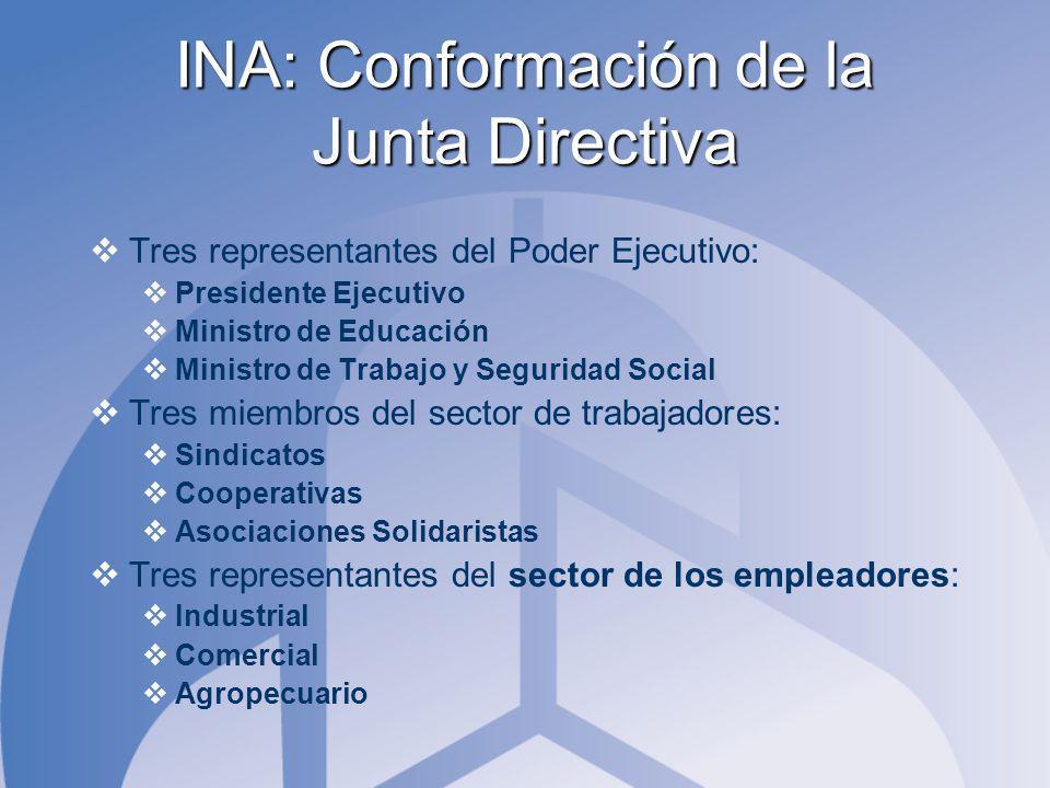 INA: Conformación de la Junta Directiva