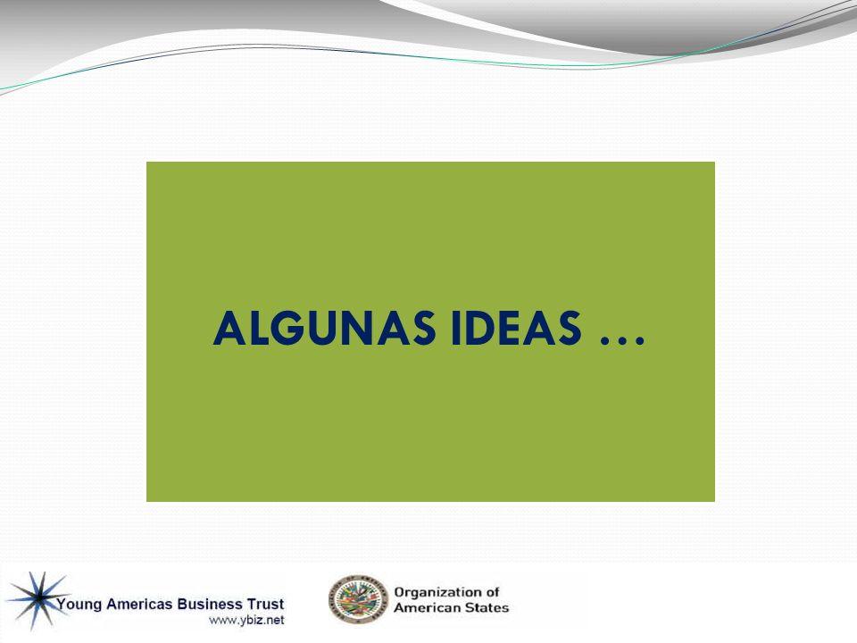 ALGUNAS IDEAS …