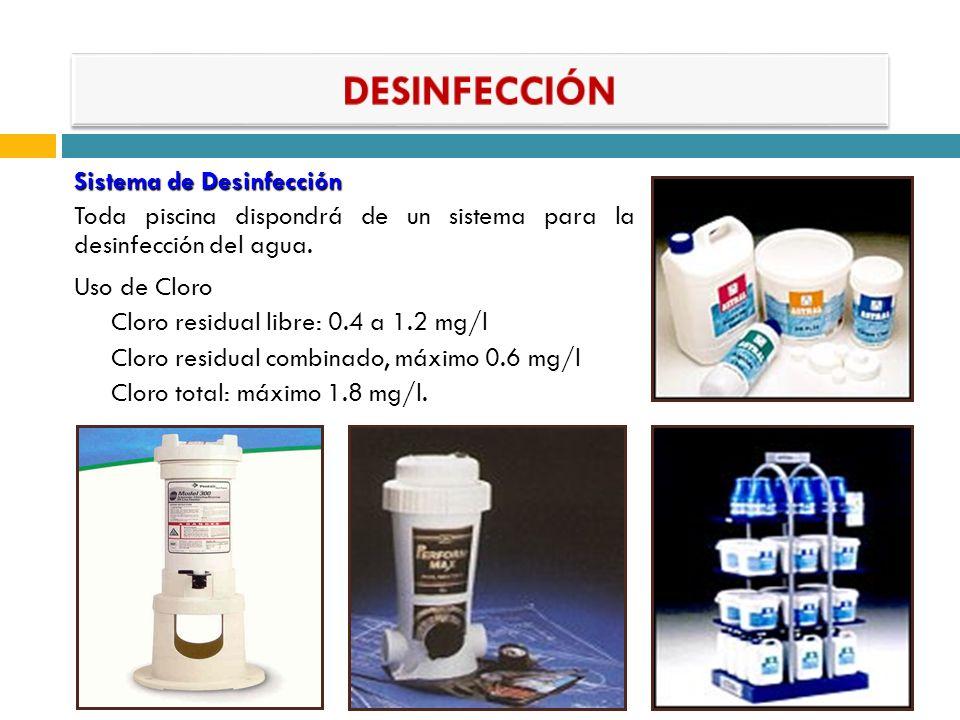 DESINFECCIÓN Sistema de Desinfección
