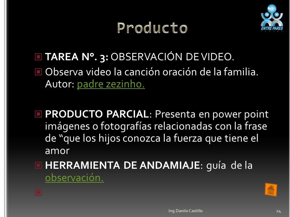 Producto TAREA N°. 3: OBSERVACIÓN DE VIDEO.