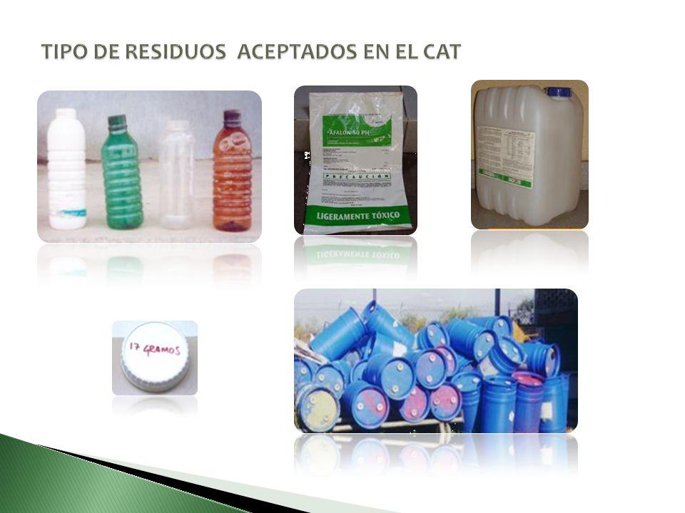TIPO DE RESIDUOS ACEPTADOS EN EL CAT