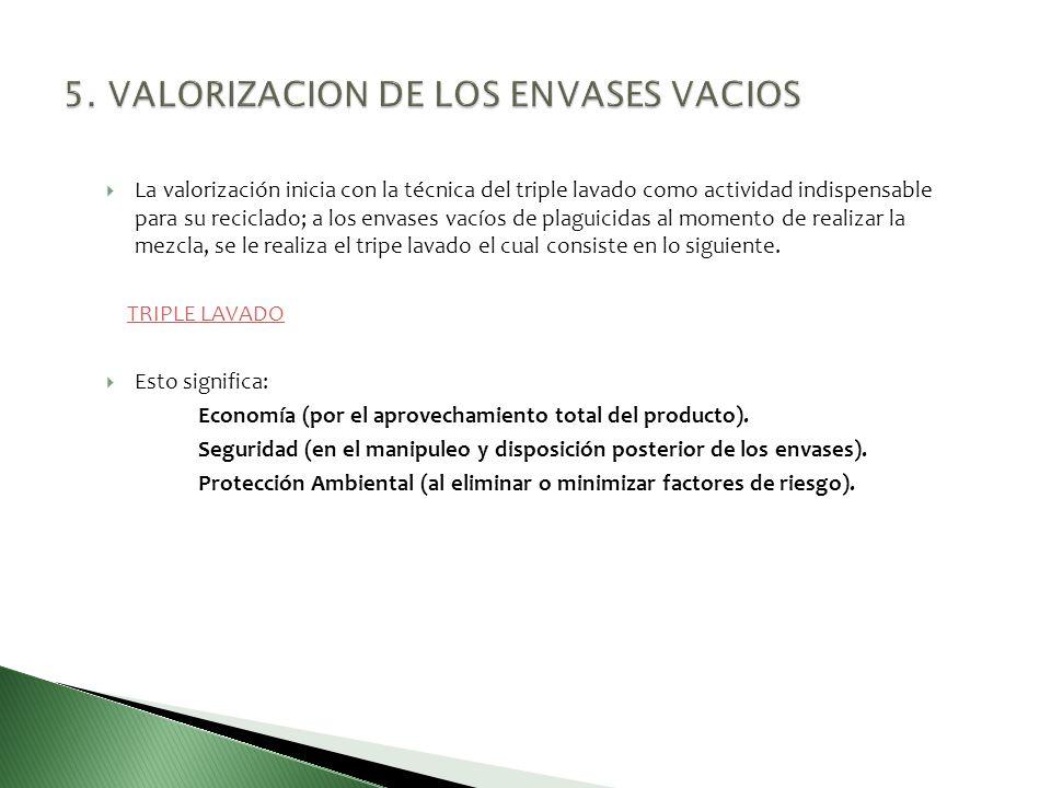 5. VALORIZACION DE LOS ENVASES VACIOS