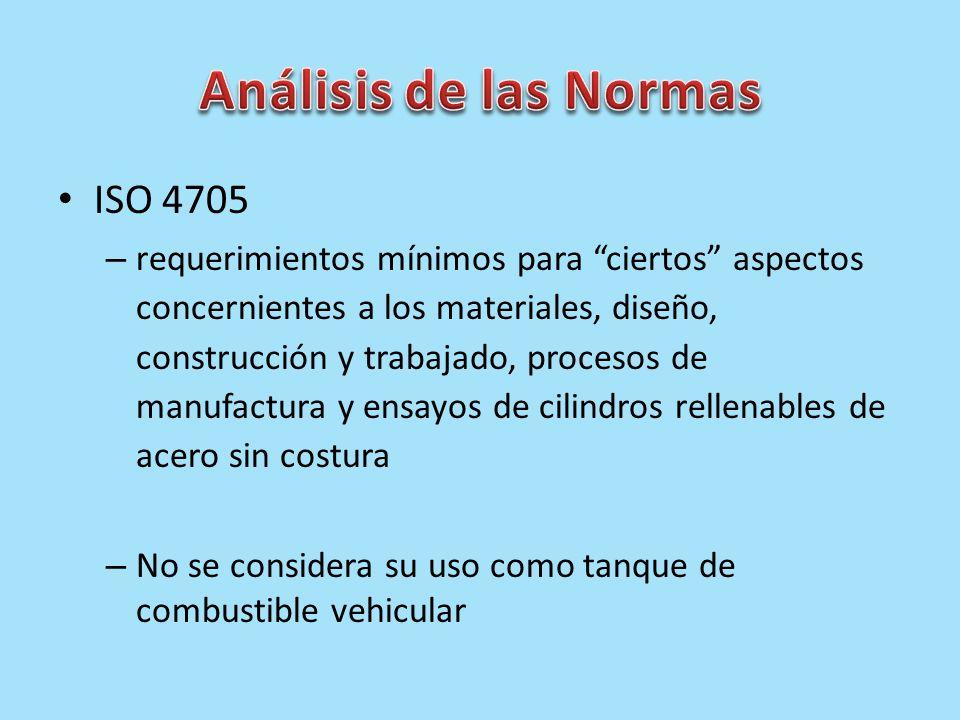 Análisis de las Normas ISO 4705