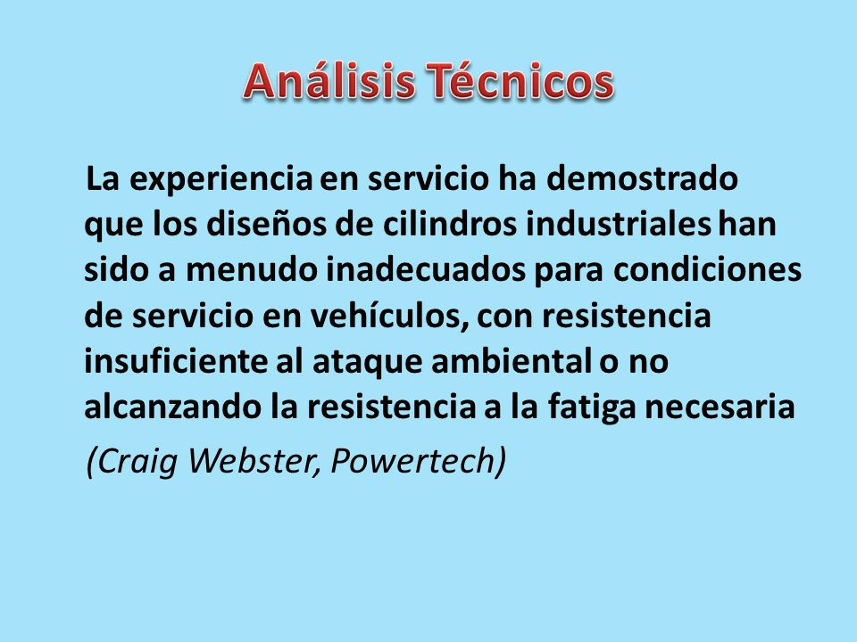Análisis Técnicos