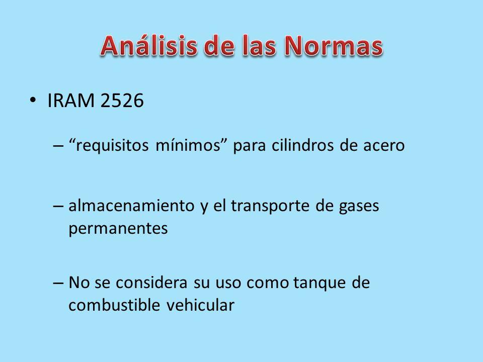 Análisis de las Normas IRAM 2526