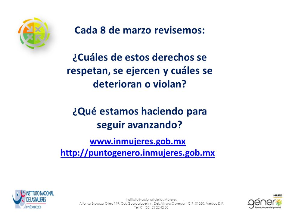 www.inmujeres.gob.mx http://puntogenero.inmujeres.gob.mx