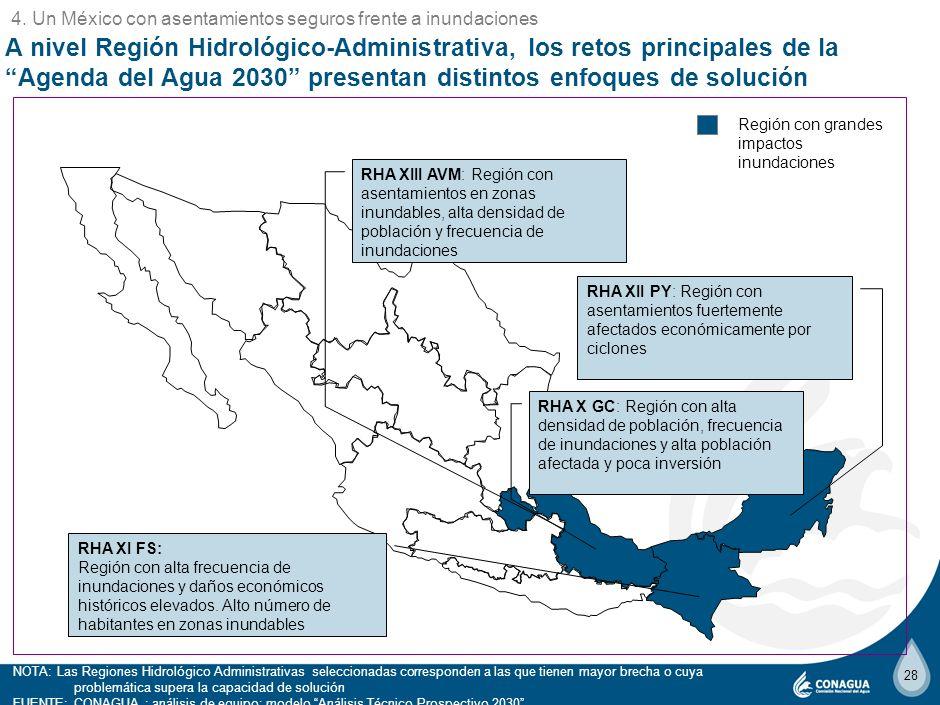 4. Un México con asentamientos seguros frente a inundaciones