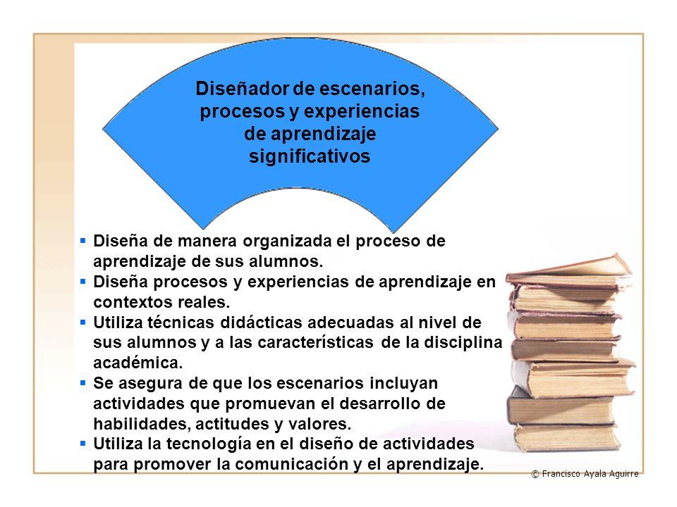 Diseñador de escenarios, procesos y experiencias de aprendizaje significativos