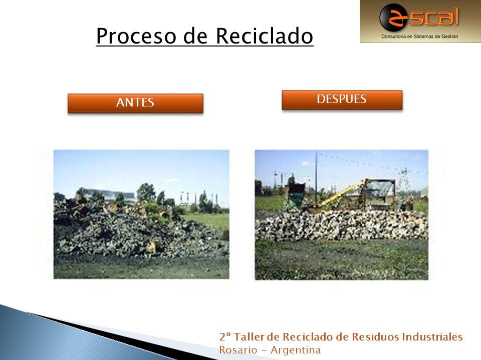 Proceso de Reciclado DESPUES ANTES