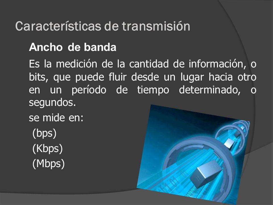 Características de transmisión