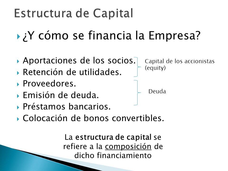 Estructura de Capital ¿Y cómo se financia la Empresa