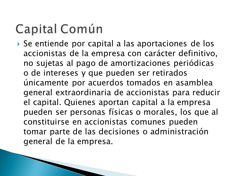 Capital Común