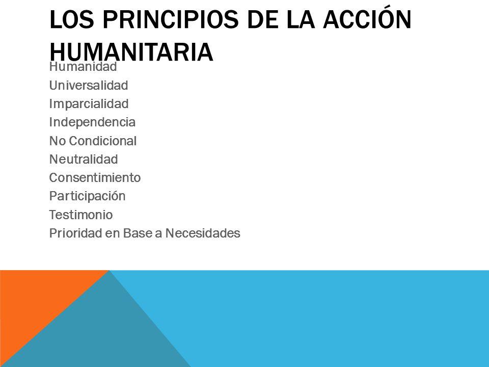 Los principios de la Acción Humanitaria