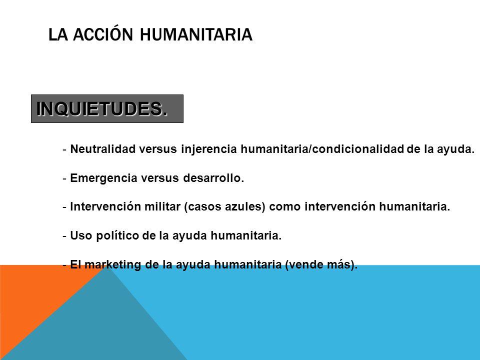 La Acción Humanitaria INQUIETUDES.