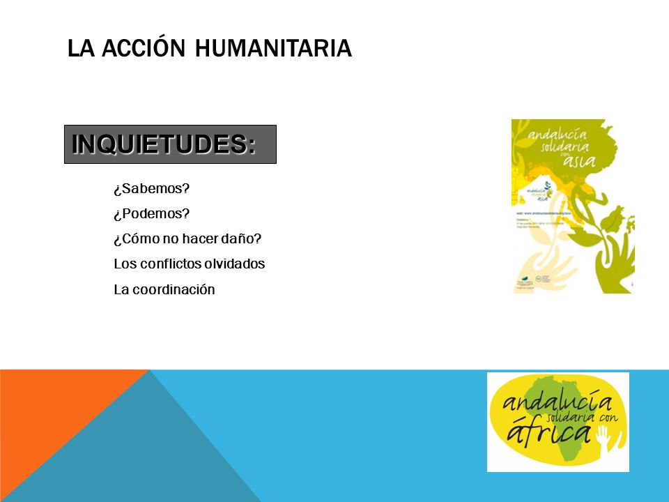 La Acción Humanitaria INQUIETUDES: