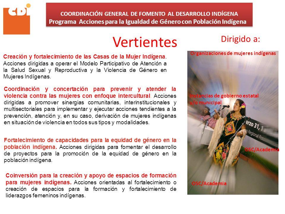COORDINACIÓN GENERAL DE FOMENTO AL DESARROLLO INDÍGENA