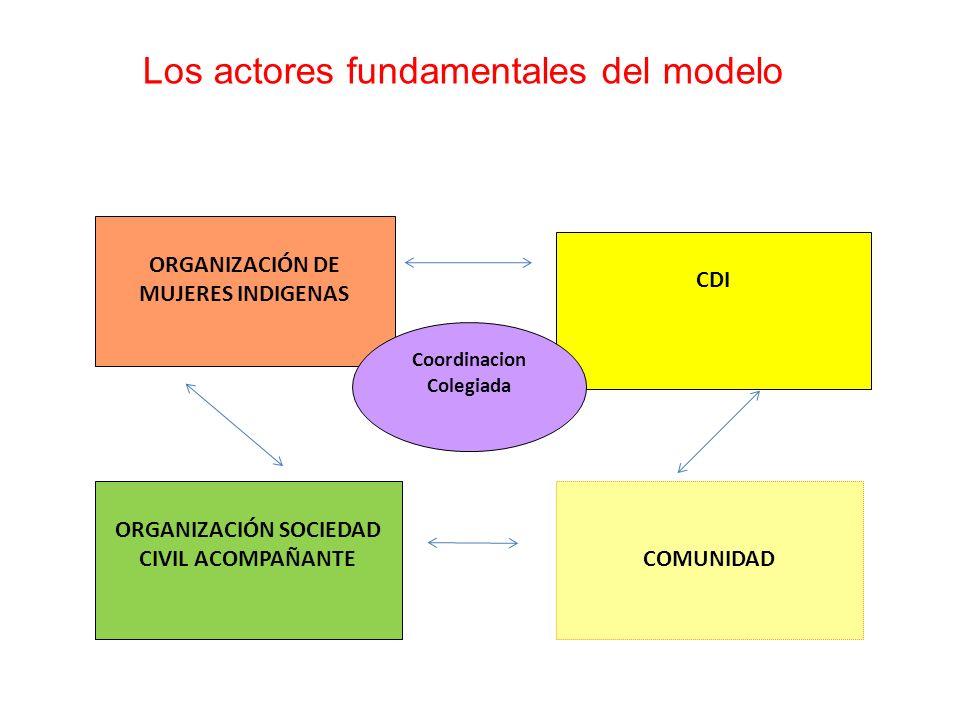Los actores fundamentales del modelo