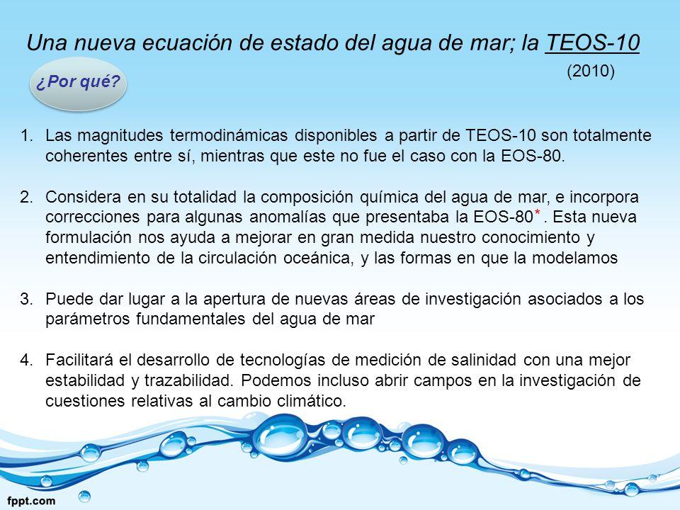 Una nueva ecuación de estado del agua de mar; la TEOS-10