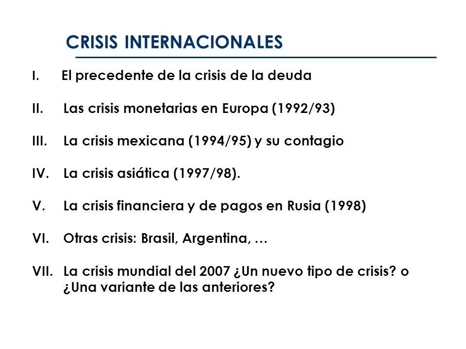 CRISIS INTERNACIONALES