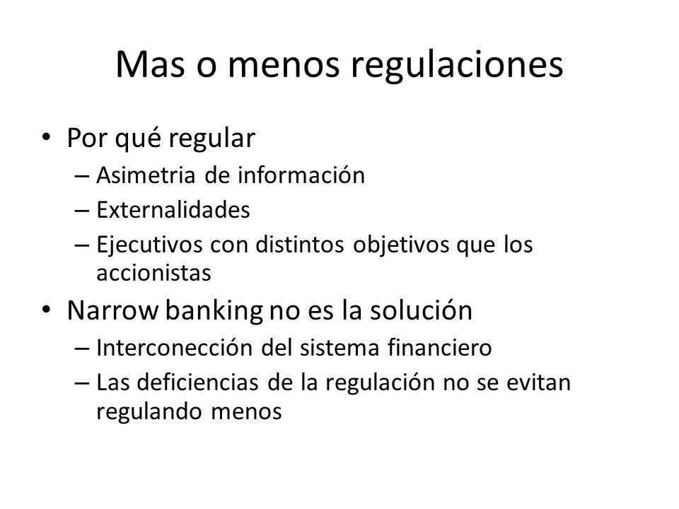 Mas o menos regulaciones