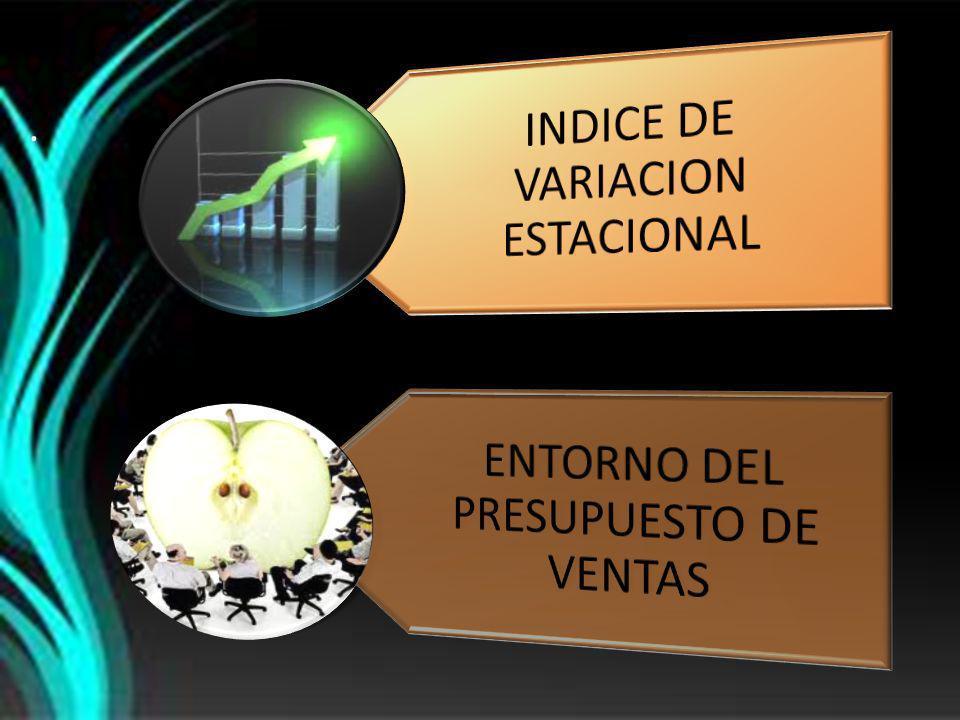 INDICE DE VARIACION ESTACIONAL