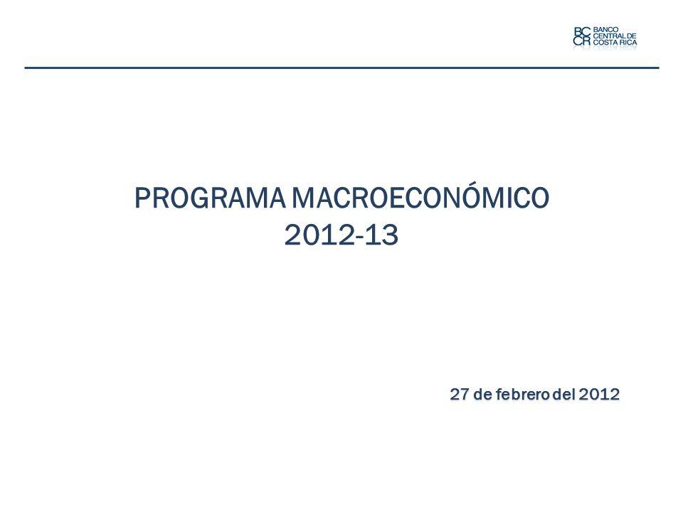 PROGRAMA MACROECONÓMICO 2012-13