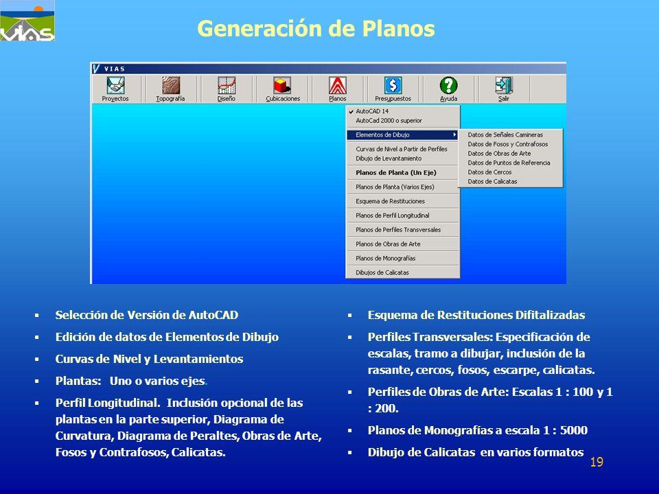 Generación de Planos Selección de Versión de AutoCAD