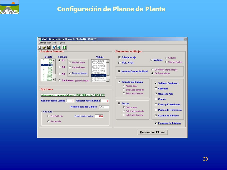 Configuración de Planos de Planta