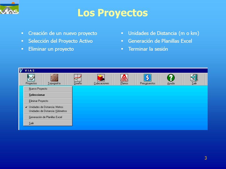 Los Proyectos Creación de un nuevo proyecto