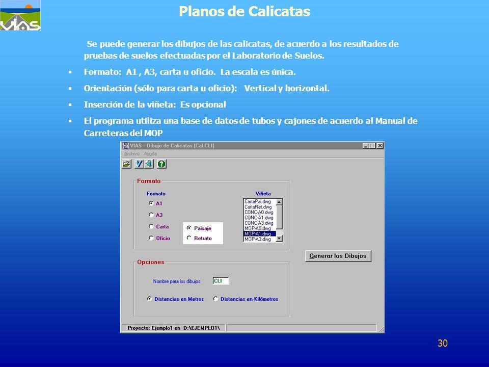 Planos de Calicatas
