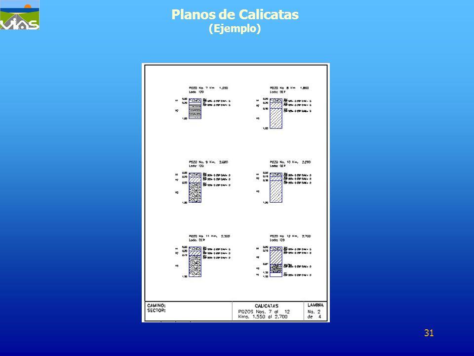 Planos de Calicatas (Ejemplo)