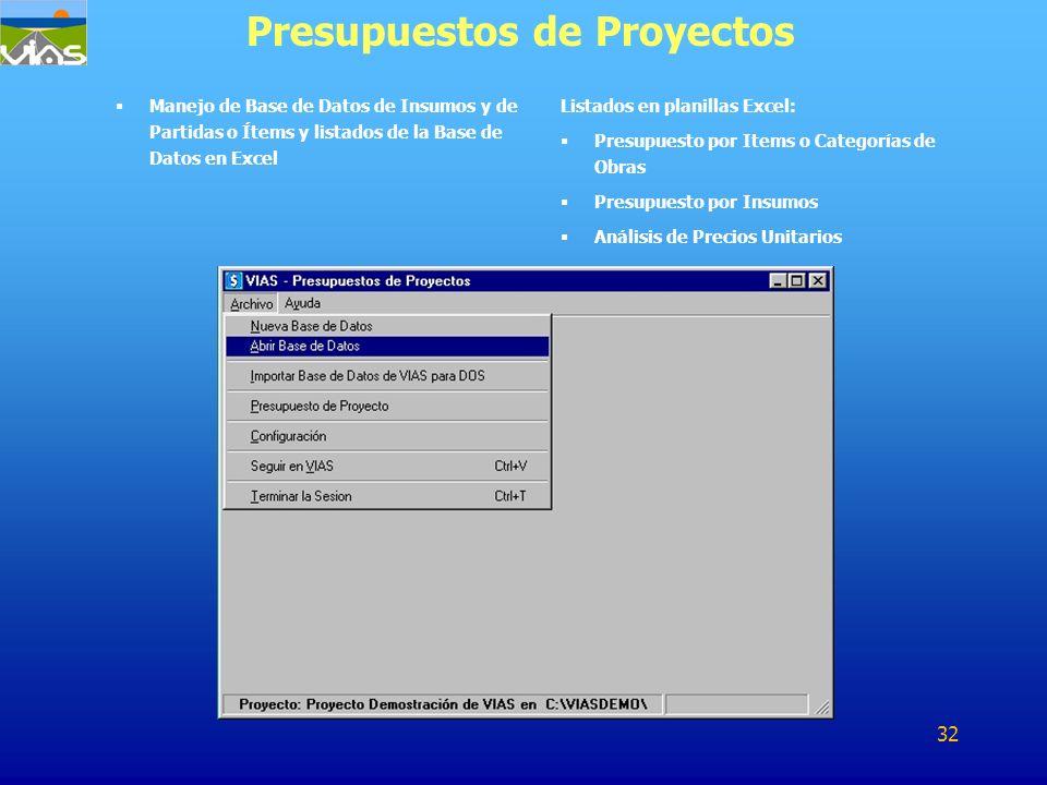 Presupuestos de Proyectos