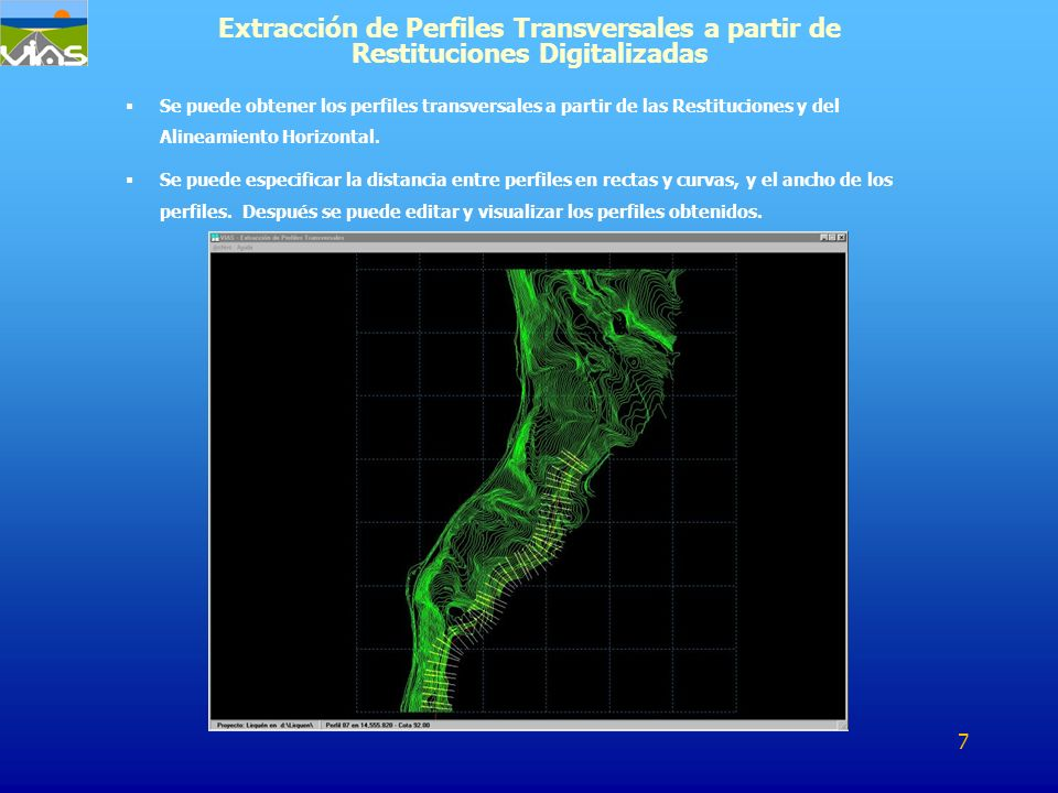 Extracción de Perfiles Transversales a partir de Restituciones Digitalizadas