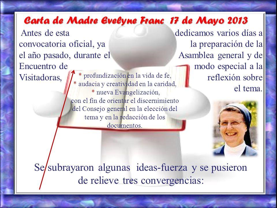 Carta de Madre Evelyne Franc 17 de Mayo 2013
