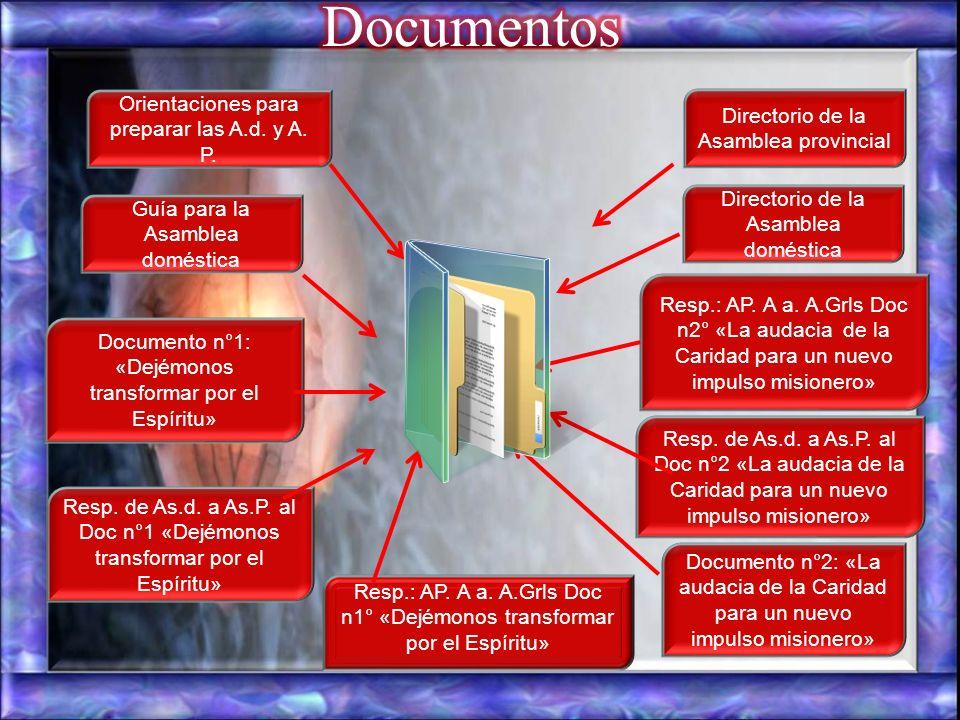 Documentos Orientaciones para preparar las A.d. y A. P.
