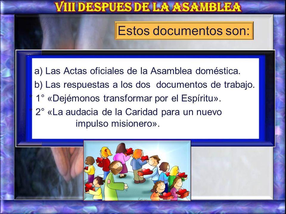 VIII DESPUES DE LA ASAMBLEA
