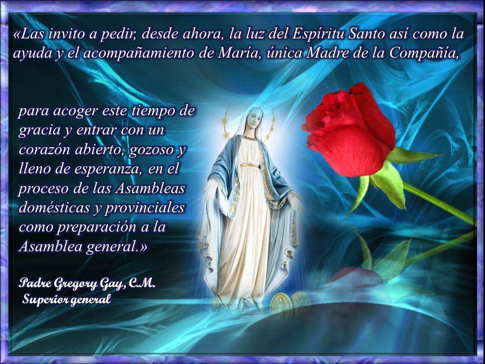 «Las invito a pedir, desde ahora, la luz del Espíritu Santo así como la ayuda y el acompañamiento de María, única Madre de la Compañía,