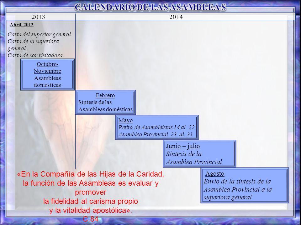 CALENDARIO DE LAS ASAMBLEA S