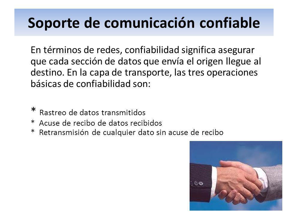 Soporte de comunicación confiable