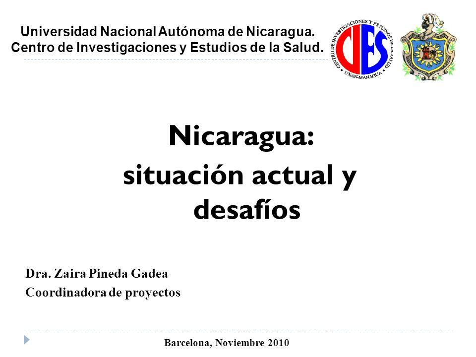 Nicaragua: situación actual y desafíos