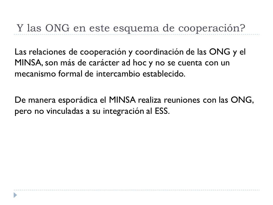Y las ONG en este esquema de cooperación