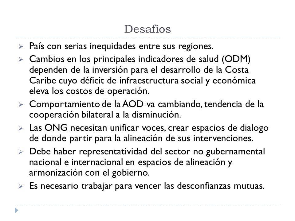 Desafíos País con serias inequidades entre sus regiones.