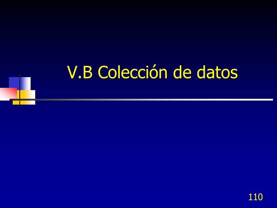 V.B Colección de datos