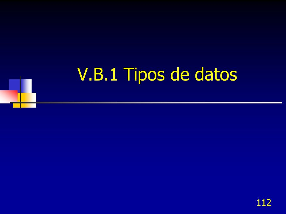 V.B.1 Tipos de datos