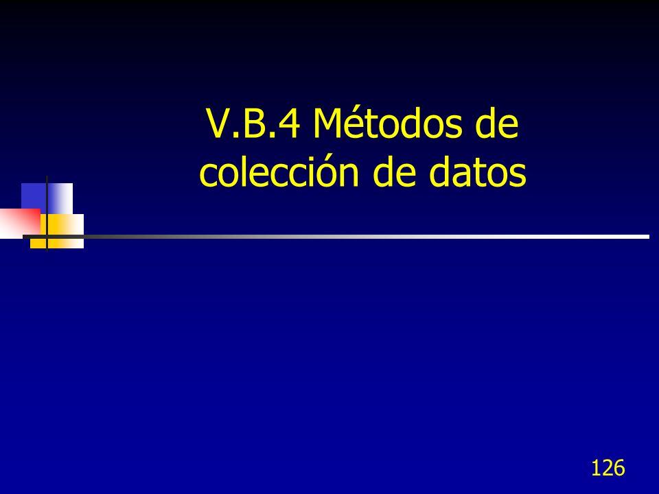 V.B.4 Métodos de colección de datos
